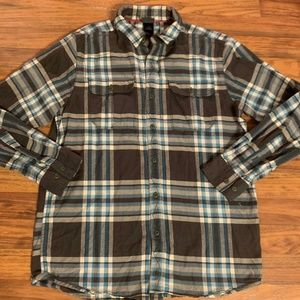 The North Face M Gray White and Blue Plaid